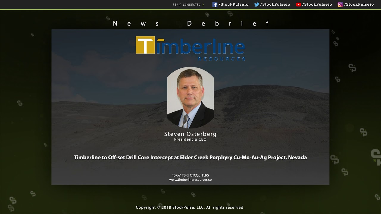 Timberline to Off-set Drill Core Intercept at Elder Creek Porphyry Cu-Mo-Au-Ag Project, Nevada