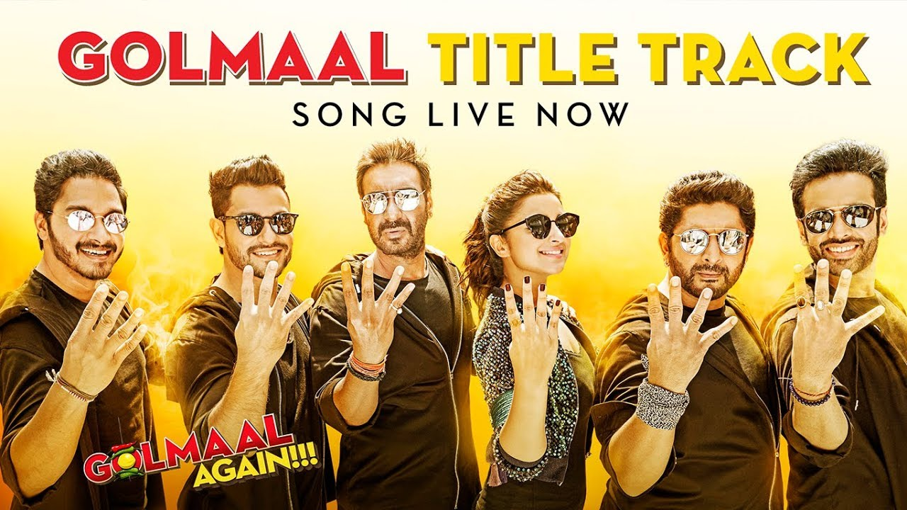 Golmaal Title Track (Video) | Ajay Devgn| Parineeti | Arshad | Tusshar | Shreyas | Kunal | Tabu  downoad full Hd Video