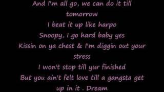 Gangsta luv Lyrics Snoop Dogg ft the Dream