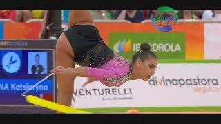 2018 European Rhythmic Gymnastics | Ball and Ribbon Routine | Katrin Taseva | ᴴᴰ
