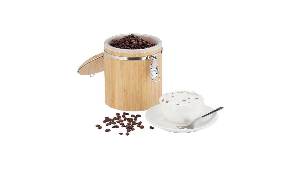 Video von: Kaffeedose Bambus