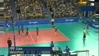 CUBA VS ITALIA SIDNEY 2000 VOLLEYBALL
