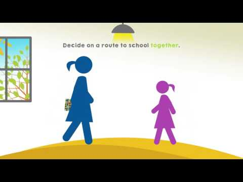 Decide on a route to school together