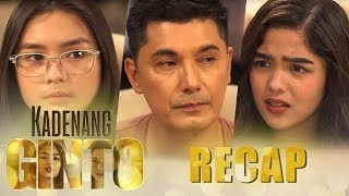 Kadenang Ginto: Week 9 Recap - Part 2 Kadenang Ginto December 6-7, 2018 Episode  To avoid further conflict between the Mondragons and the Bartolomes, Robert (Albert Martinez) arrives at a tough decision. This, however, does not sit well with Daniela (Dimples Romana). Tension later intensifies when Robert informs the Bartolomes of his decision. Refusing to take it sitting down, Marga (Andrea Brillantes) vents her ire on Cassie (Francine Diaz). Meanwhile, bothered by Daniela's advice, Romina (Beauty Gonzalez) opts to zero in on her daughter.  Daniela (Dimples Romana) desperately wants to throw Romina (Beauty Gonzalez) out of her life. However, Daniela discovers that her plans against Romina and Cassie (Francine Diaz) is having a negative effect on her relationship with Marga (Andrea Brillantes). Daniela then tries to make an effort to patch things up with her daughter. Meanwhile, Romina starts to notice that Cassie is growing distant from her. As the Maxwell Prime Fair approaches, Marga continues to bully Cassie.   Subscribe to the ABS-CBN Entertainment channel! - http://bit.ly/ABSCBNOnline  Visit our official website!  http://entertainment.abs-cbn.com http://www.push.com.ph  Watch the full episodes of Kadenang Ginto on TFC.TV: http://bit.ly/KadenangGinto-TFCTV  Facebook: http://www.facebook.com/ABSCBNnetwork  Twitter:  https://twitter.com/ABSCBN https://twitter.com/abscbndotcom  Instagram: http://instagram.com/abscbnonline  #KGDesisyon,#KGPinaglalayo,#KadenangGinto  Recap Cast:  Francine Diaz (Cassie) / Andrea Brillantes (Marga) / Beauty Gonzalez (Romina) / Dimples Romana (Daniela) / Albert Martinez (Robert) / Adrian Alandy (Carlos) / Susan Africa (Esther) / Kat Galang (Bonita) / Adrian Lindayag (Neil) / Bea Borres (Maureen) / Danica Ontengco (Nadya) / Bea Basa (Fatima) / Kim Molina (Savannah) / Aleck Bovick (Myrna) / Sheree Bautista (Jessa) / Ronnie Lazaro (Kulas) / Nikko Natividad (Gino) / Luke Conde (Jude) / Mailes Kanapi (Ms. Galvez)