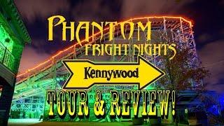 Kennywood Park Phantom Fright Nights / Full Park Tour & Review!!!