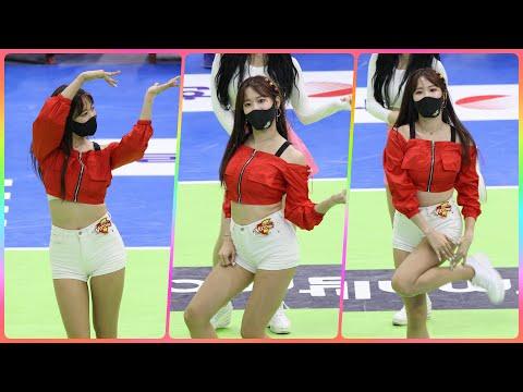 [4K] 치어리더 김한나 직캠 (Kim Han-Na) - 특별공연(오마이걸-Dolphin) @남자배구경기/2…