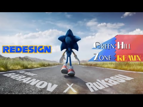 REDESIGN - Sonic the Hedgehog Movie - Cartoon remake with classic song - Fanmade