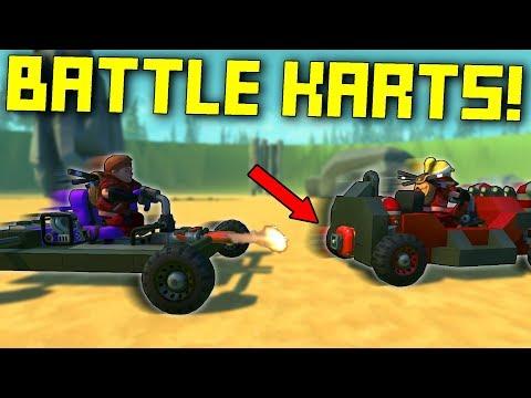 Explosive Go Kart Arena Battle! - Scrap Mechanic Multiplayer Monday