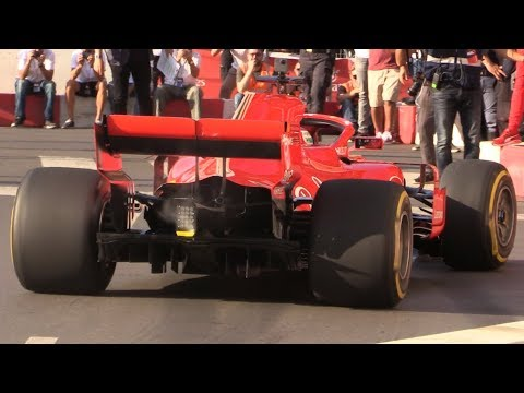 Ferrari SF71H in the Streets of Milan-Vettel and Raikkonen Making a Great Show Before the Italian GP