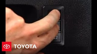 2007 - 2009 Tundra How-To: Driver's Seat Memory System   Toyota