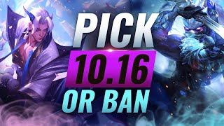 OP PICK or BAN: BEST Builds For EVERY Role - League of Legends Patch 10.16