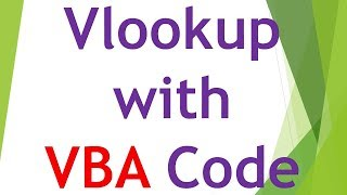 Vlookup with VBA - Excel VBA Tutorial By Exceldestination