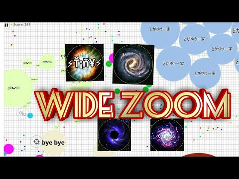 SUPER WIDE ZOOM IN ANDROID | NEW CUSTOM SKINS | BEST CLIPS IN AGAR IO  MOBILE - TINY YT
