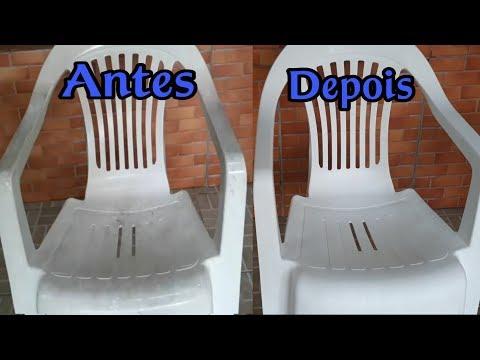 Limpar cadeira de plástico