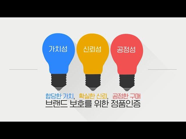 조폐공사 정품인증사업 홍보영상 대국민 공모전 '우수상' - 정품인증 인포그래픽