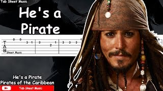 Pirates of the Caribbean Theme - He's a Pirate Guitar Tutorial