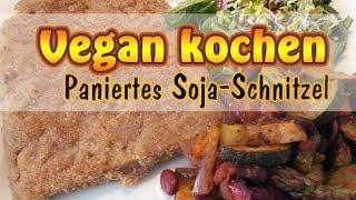 Rezept: Paniertes Soja-Schnitzel | Veganes Schnitzel selber machen | Big Steaks