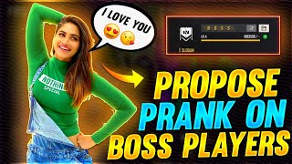 GIRL PROPOSE PRANK ON BOSS MEMBERS 😂♥️ must watch