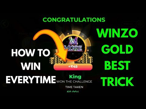 Winzo gold everytime winning trick || Unlimited Paytm cash trusted