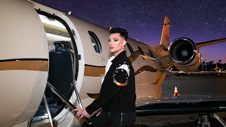 Doing My Makeup On A Private Jet (BIG MISTAKE LOL)