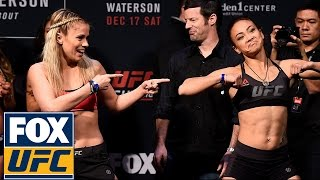 Paige VanZant and Michelle Waterson have a dance-off at their weigh-in | UFC ON FOX