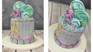 Drip Cake | Swirl Candy Cake | Pastel Colored Cake