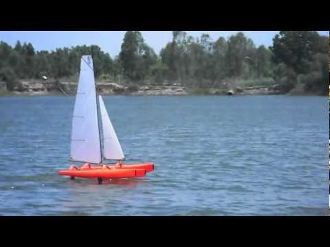FireDragon - Hydro Foiling on Asymmetric Foils - Mini40/F-48 Trimaran