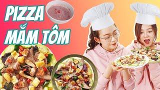 Vào Bếp Cùng Hải Yến : Hoảng Hồn Pizza Bún Đậu Mắm Tôm Lòng Lợn =))