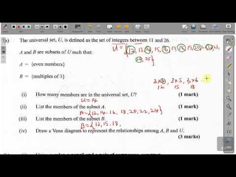 CXC CSEC Maths Past Paper 2 Question 3a May 2014 Exam ...