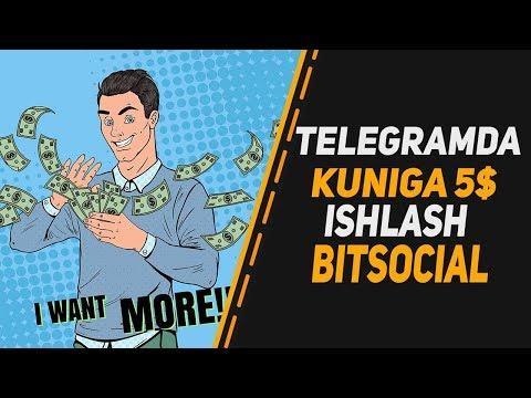 TELEGRAMDA SARMOYASIZ KUNIGA 5$ ISHLASH/ BITSOCIAL BOTIDAN PUL CHIQARISH