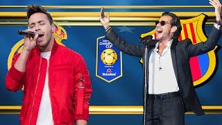 Prince Royce & Marc Anthony at El Clasico - National Anthem & Half Time Show