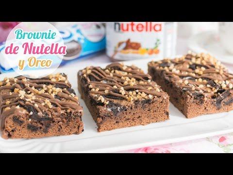 Brownie de Nutella y Oreo   Quiero Cupcakes!