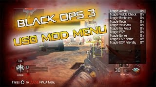 Black Ops 3 USB Mod Menu w/ Download For PS4, Xbox One, PS3, Xbox 360 [2015] [Ninja] [No Jailbreak]
