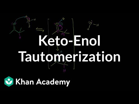 Keto-enol tautomerization (by Sal) | Alpha Carbon Chemistry | Organic chemistry | Khan Academy