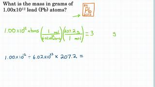 Convert Particles To Mass - Practice - 1