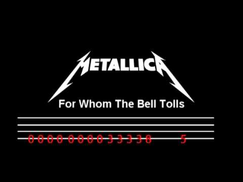 For Whom The Bell Tolls - Bass Tab - For Beginner Chords