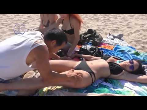 Groping massage woman body, Full Woman Massage Therapy on the Beach 15