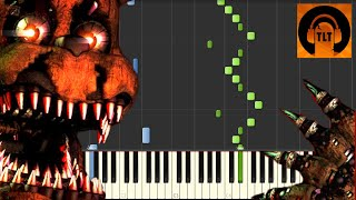 FNAF 4 Song - I Got No Time - The Living Tombstone [Piano Tutorial] (Synthesia) // SHEET MUSIC