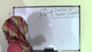 6th Grade Math How to Convert Decimal to Fractions