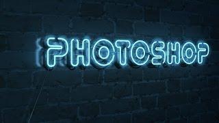 Неоновый текст в Phototoshop 3D