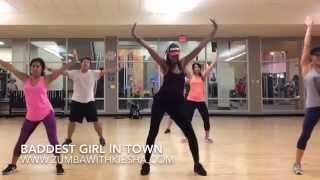 """Baddest Girl In Town"" by Pitbull (feat. Mohombi & Wisin) - ZUMBA with Kiesha"