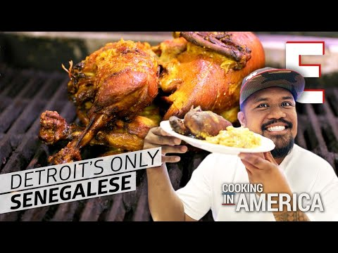 Whole Fried Chicken at Detroits Only Senegalese Restaurant – Cooking in America