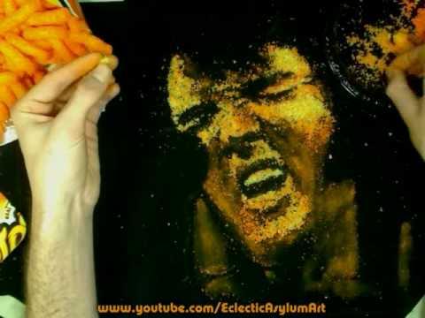 Malowanie chrupkami Cheetos