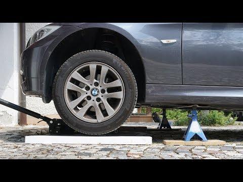 BMW E90 Vorderachse anheben