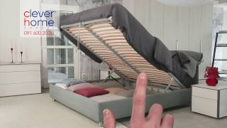 """""""Clever Home, letto Flou modello Nathalie"""", by fashionchannel.ch"""