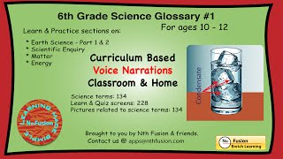 6th Grade Science Glossary # 1 : Learn And Practice Worksheets For Home And Classroom