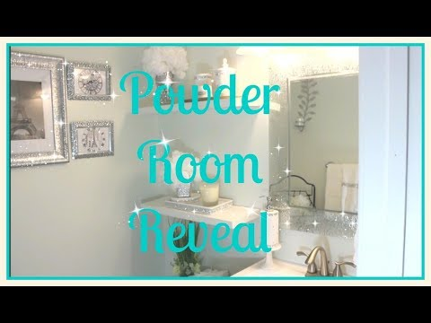💎Small Bathroom Tour|| 💎Affordable Glam Decor|| Powder Room Reveal💎
