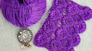 💜💜MOR VE ÖTESİ💜💜#crochet #pattern #örgü #tasarım