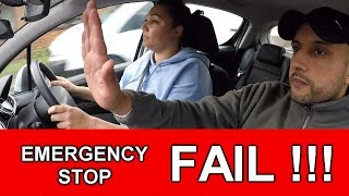 Learner Driver Fails Driving Test On Emergency Stop