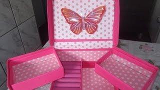 Como fazer organizador de maquiagem e acessórios com caixa de sapato